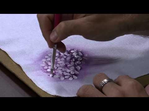 Mulher.com 06/02/2015 Luis Moreira - Dicas pintura em tecido flores Parte 1/2