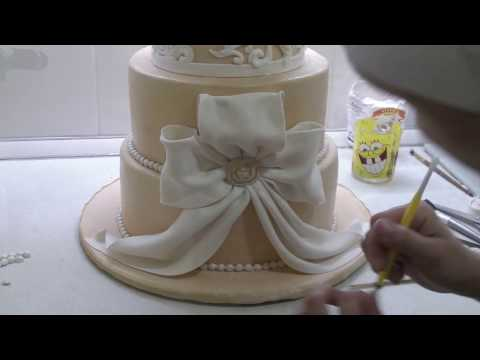 Украшение свадебного торта своими руками
