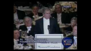 George W Bush's Al Smith dinner speech 2000 .FUNNY!