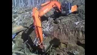 Обучение экскаваторщика на газопроводе