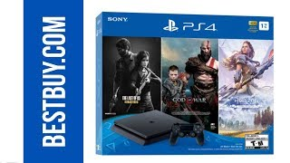 How To Buy Ps4 Slim 1tb Bundle With God Of War, The Last Of Us, And Horizon Zero Dawn In Bestbuy.com