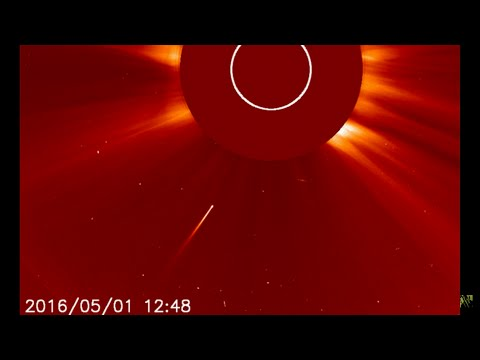 New Sun Diving Comet Caught on NASA's SOHO Cameras