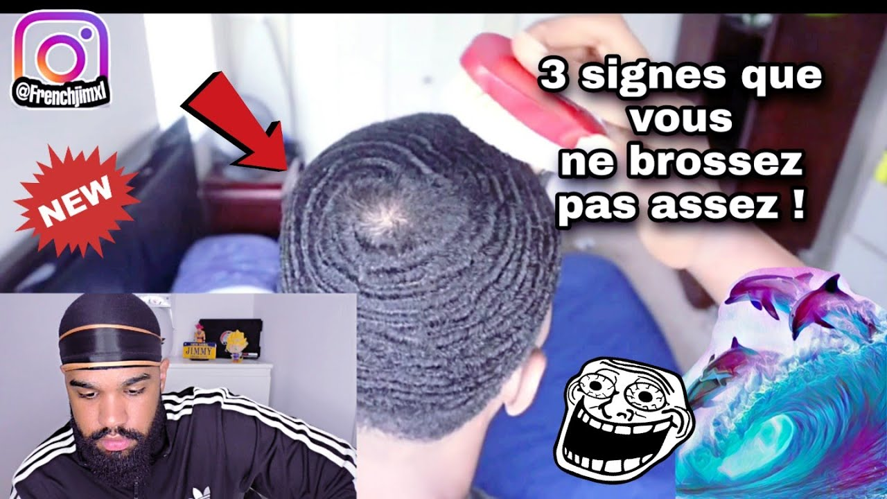REACTION : 3 SIGNES QUE VOUS NE BROSSEZ PAS ASSEZ !!! 🌊🌊🌊 #waves #brush #brosse #durag