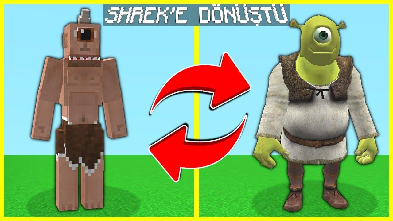 TEPEGÖZ, SHREK'E DÖNÜŞTÜ AYVAYI YEDİ! 😂 - Minecraft