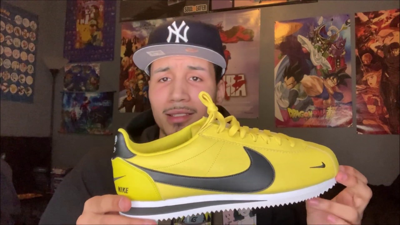 sneakers nike cortez citron