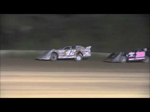 AMRA Late Model Heat #2 from Legendary Hilltop Speedway, August 19th, 2016.