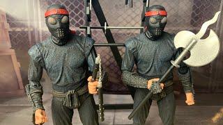 "Teenage Mutant Ninja Turtles NECA Toys 1990 Movie Foot Soldier 7"" SDCC 2019 Exclusive Figure Review"