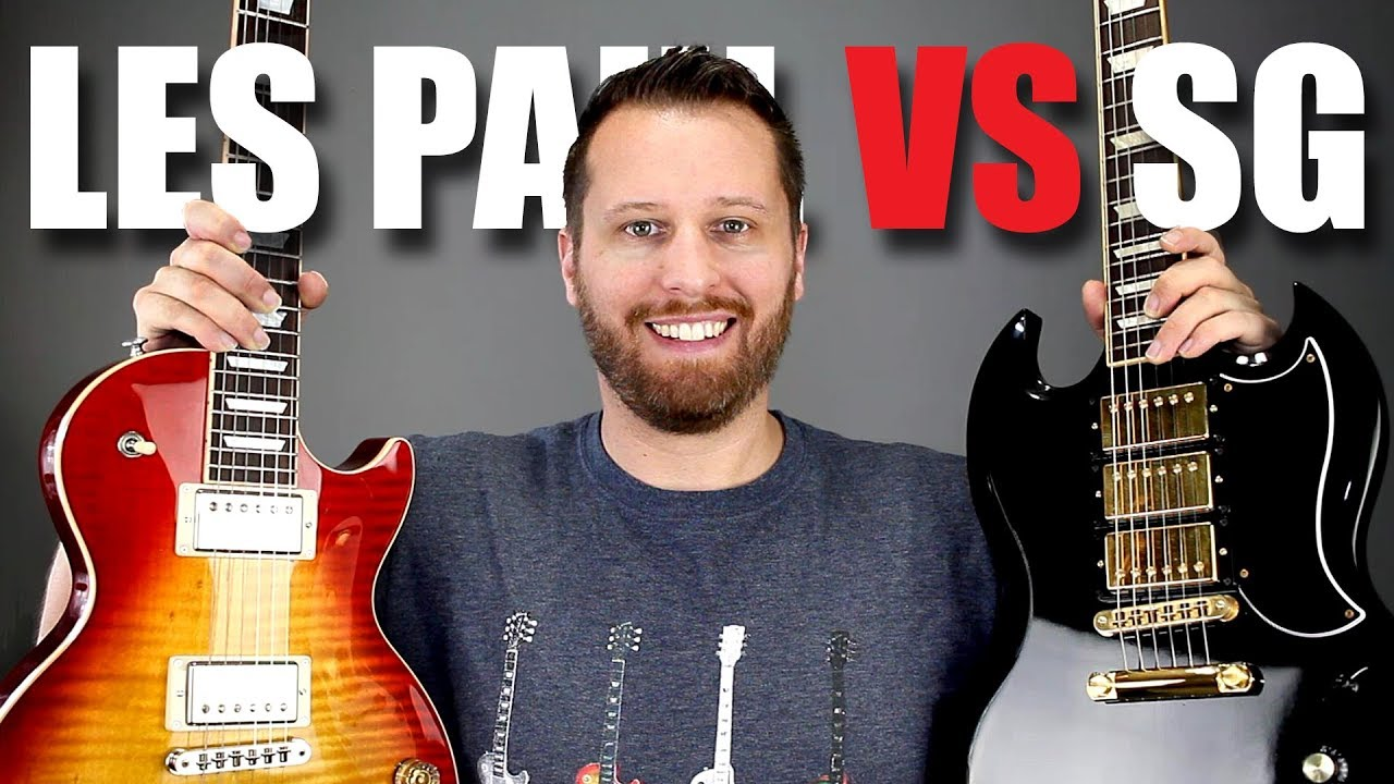 les paul vs sg guitar tone comparison youtube. Black Bedroom Furniture Sets. Home Design Ideas