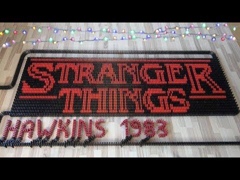 STRANGER THINGS in 33,000 dominoes (DominoERDMANN & ND Domino)