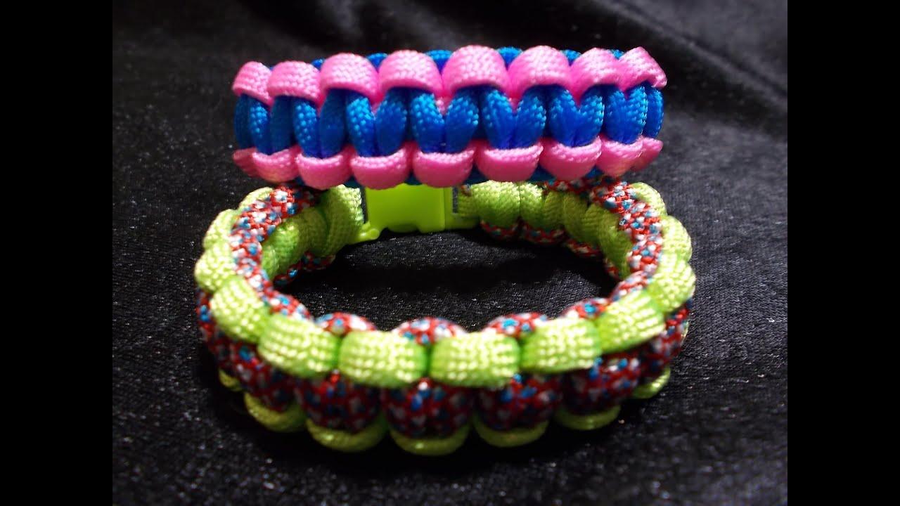 Super Paracorde, le bracelet cobra, weavy loops tuto francais - YouTube UP33