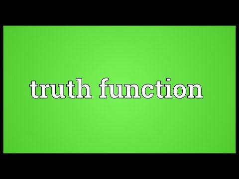 Truth function Meaning