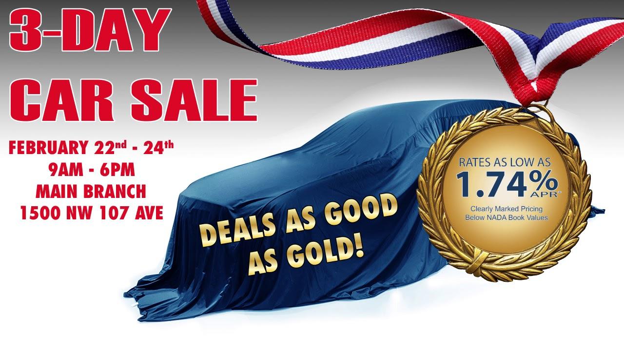 Dade County Federal CU 3-Day Car Sale - YouTube