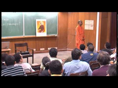 Facing Real Life Challenges- Swami Narasimhananda at IIT Kanpur