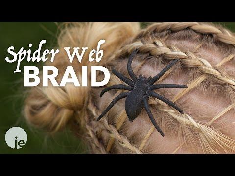 Spider Web Braid | Halloween Hairstyle