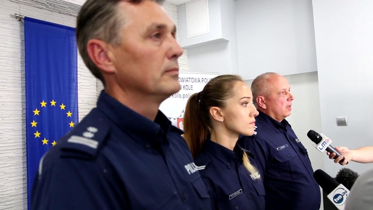 Konferencja prasowa policji, Koło, 18.08.2017, okrągłemiasto. pl