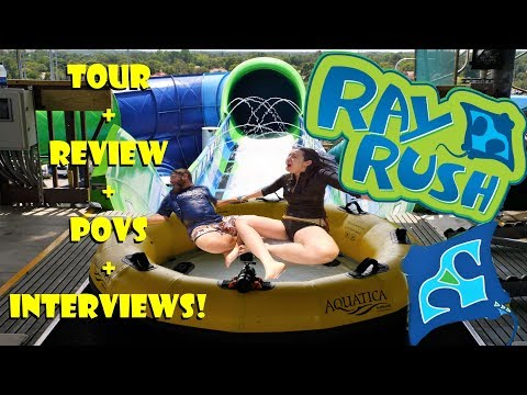 First Look: Ray Rush Aquatica Orlando Tour, Review, POVS, Interviews, & More!
