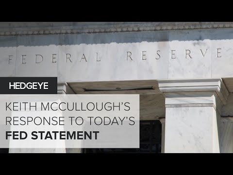McCullough: My Response To Today's Fed Statement