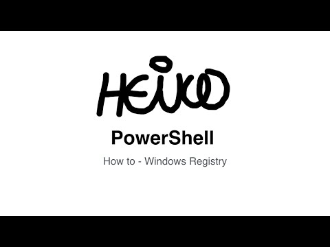 Windows PowerShell - How to - Windows Registry