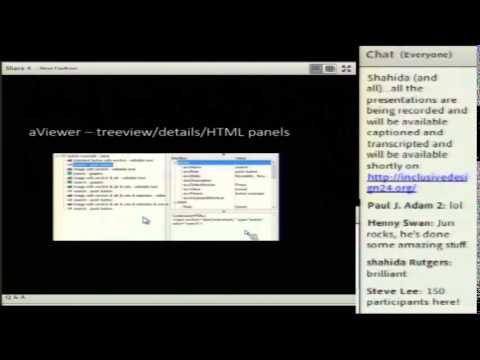"Steve Faulkner ""Using the aViewer accessibility object inspection tool"" (ID24 2014)"