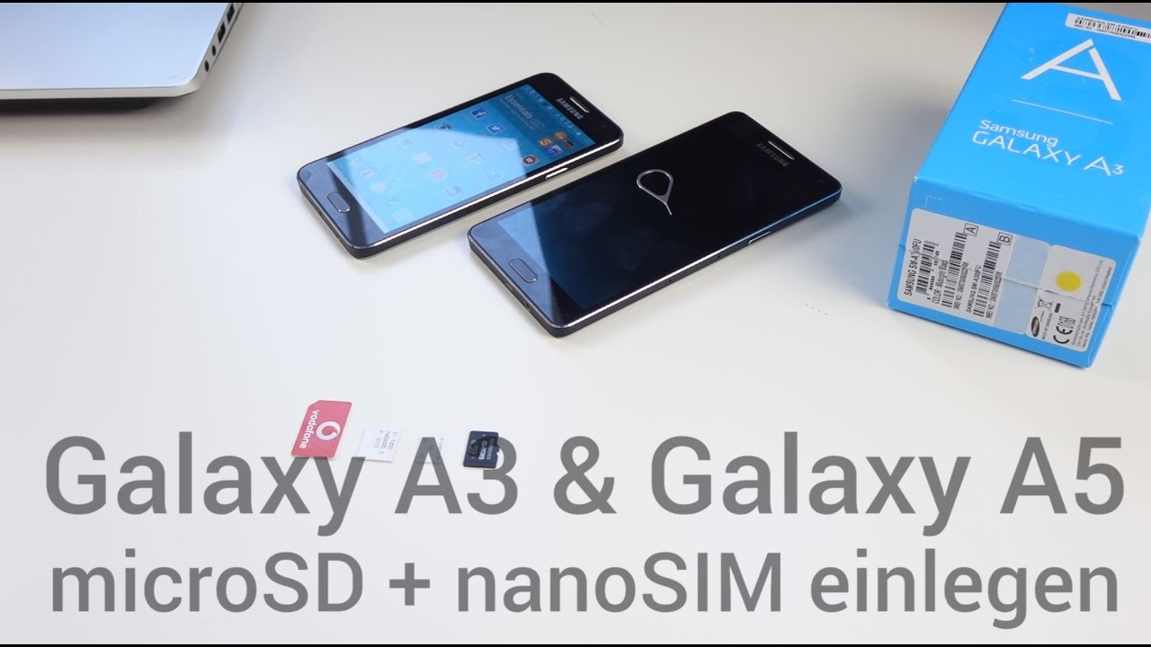 Samsung A5 Sd Karte Einlegen.Samsung Galaxy A3 Galaxy A5 Nanosim Microsd Einlegen