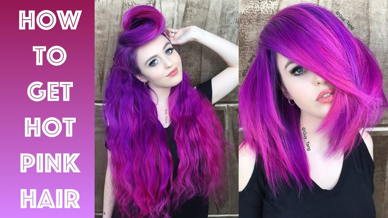 How To Get Hot Pink Hair Youtube