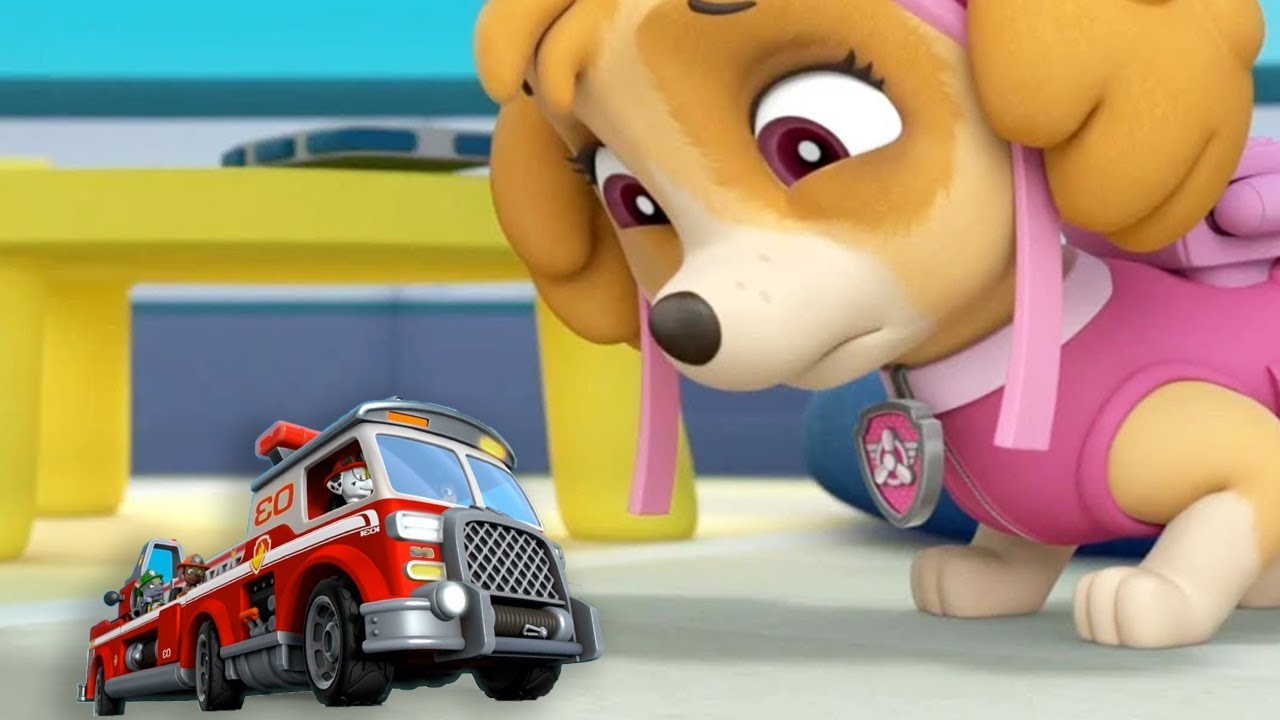 Download PAW Patrol Mission Paw - Mighty Pups Rescues Mission Firefighter Truck Marshall - Fun Pet Kids Games