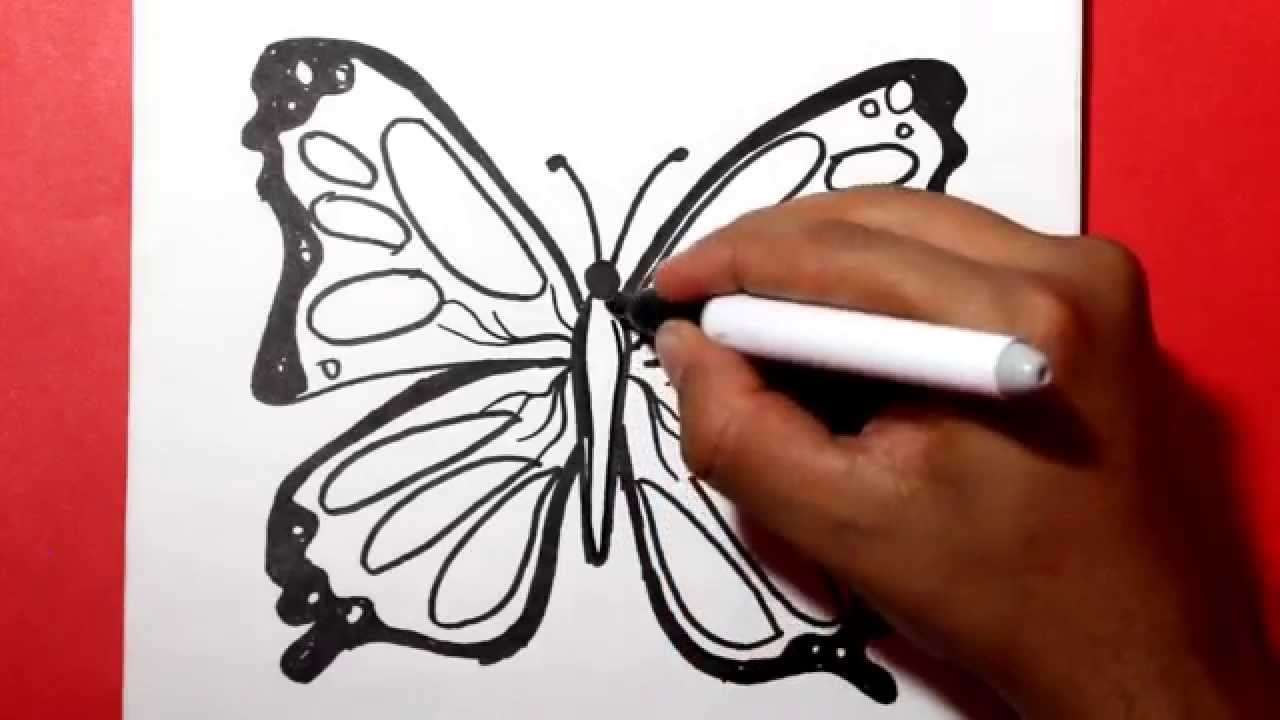 how to draw a butterfly / Como dibujar una mariposa /como hacer una ...