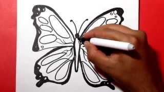 how to draw a butterfly / Como dibujar una mariposa /como hacer una mariposa/ Dibujos para colorear