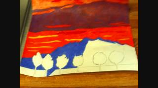 How To Draw A Mount Baldy Sunset Scene With Colored Pencils
