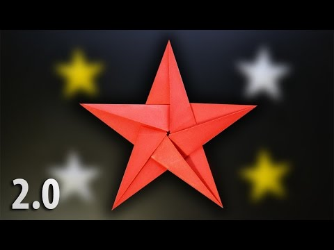 Origami Five Pointed Star 20 Instructions In English Br Youtube