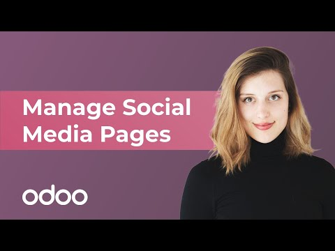 Manage Social Media Pages   Odoo Marketing