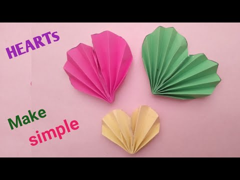3d paper heart origami - easy paper heart - easy origami