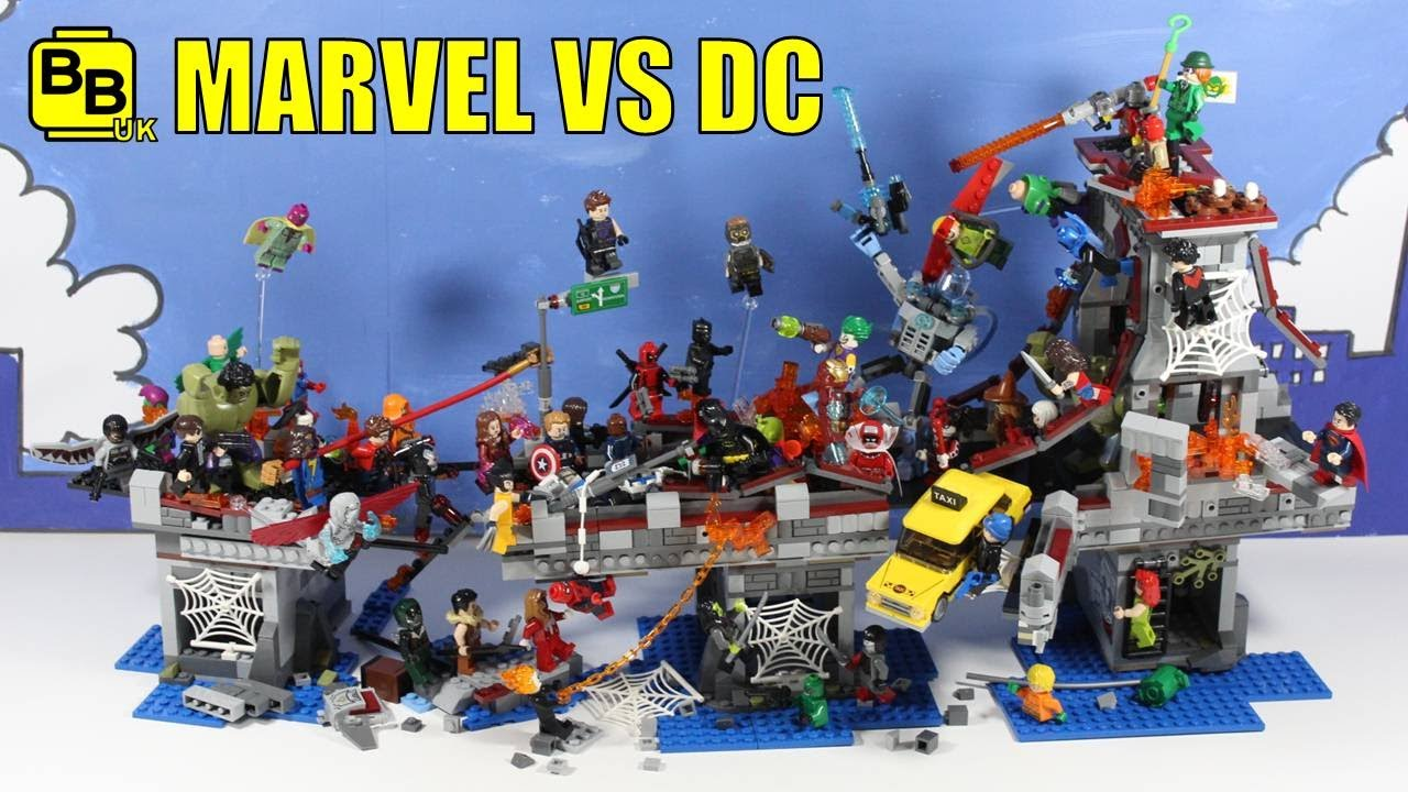 Lego Marvel Moc: LEGO MARVEL VS DC ULTIMATE BRIDGE BATTLE! DISPLAY MOC