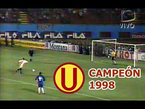 Definición por penales Universitario Campeón 1998 Narración Miky Rospigliosi