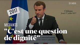 Migrants évacués de force : quand Emmanuel Macron parlait d'hébergement