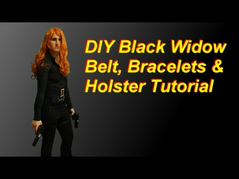 Diy Black Widow Costume Part 2 Belt Holster Bracelets Gloves
