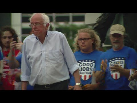 US Sen. Bernie Sanders visits Indianapolis for rally on jobs