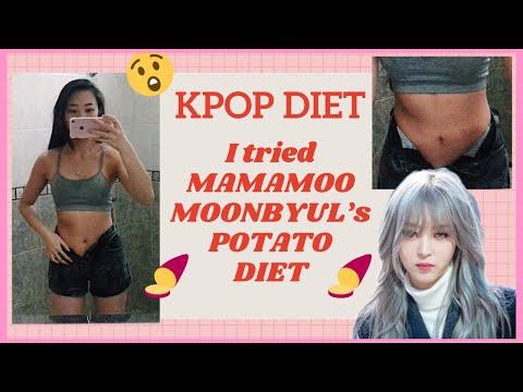 I DID MAMAMOO 마마무 MOONBYUL 문별 SWEET POTATO KPOP DIET - She Lost 10kg??