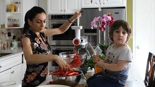 Աջիկա - Կարմիր Տաքդեղով Թանձրուկ - Adjika - Red Pepper Dip - Heghineh Cooking Show in Armenian