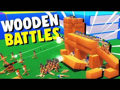TOY SOLDIERS Attack WOODEN TOY CASTLES! - Wooden Battles Gameplay