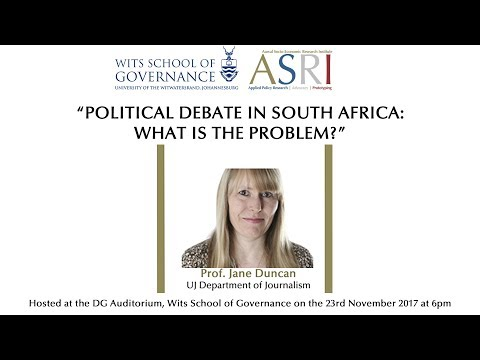 Prof. Jane Duncan Opening Remarks -