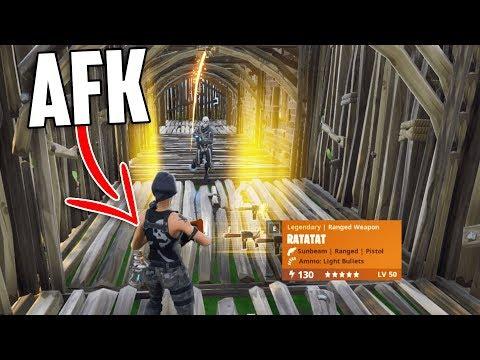 Going AFK While Trading *NEW* 130 RATATAT (Season 6 Gun) -  Fortnite Save The World