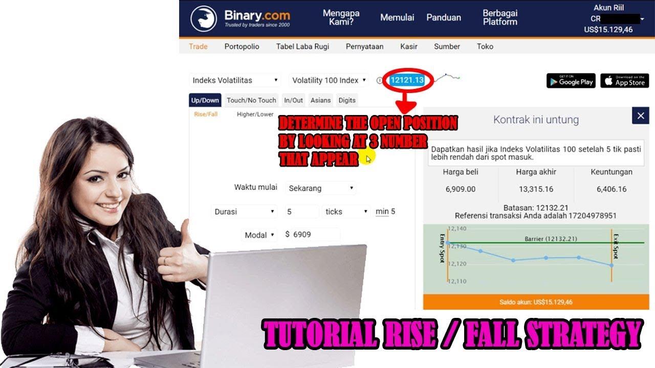 binary com tricks, rise fall strategy, 100% accuracy - YouTube