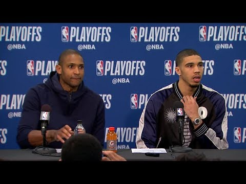 Al Horford & Jayson Tatum Postgame Interview - Game 3 | Celtics vs Sixers | 2018 NBA Playoffs