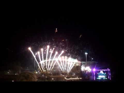 New Year 2014 Fireworks - Adelaide, South Australia