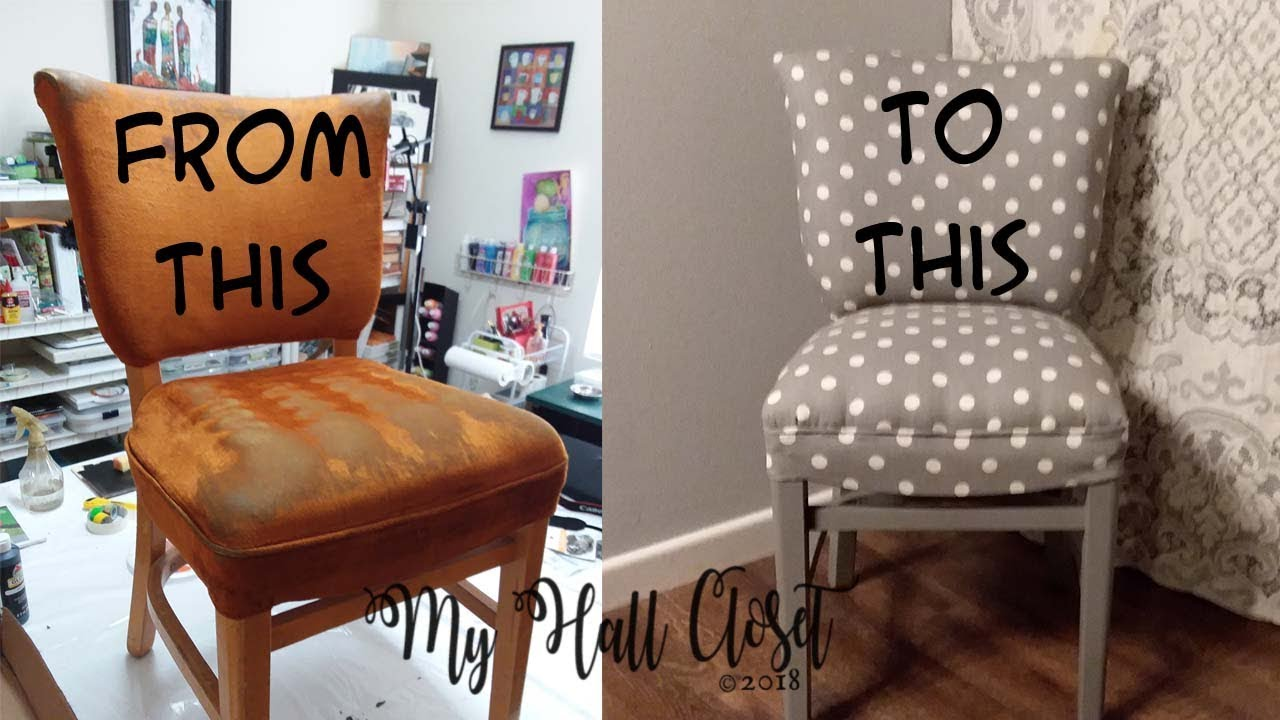 Diy How To Reupholster Or Upholster An Old Chair Youtube
