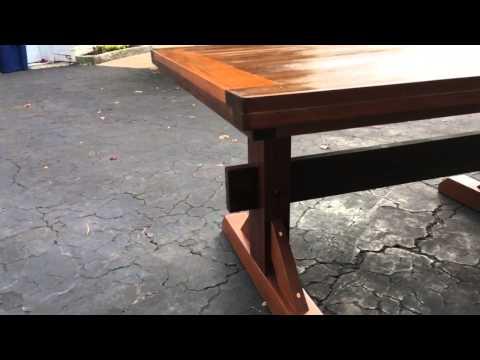 Mahogany triple pedestal table