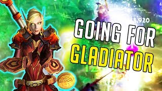 GOING FOR GLADIATOR! Retribution Paladin PvP - PHS 3v3 [World of Warcraft: Legion 7.2.5]