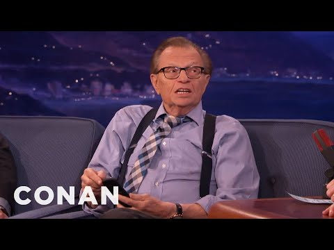 Larry King Loves Old Technology  - CONAN on TBS