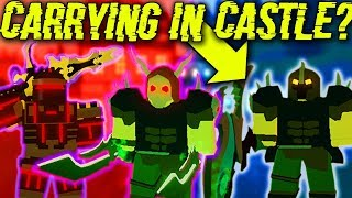 I TRIED TO CARRY IN KINGS CASTLE BUT IT DIDNT GO WELL... (ROBLOX DUNGEON QUEST)